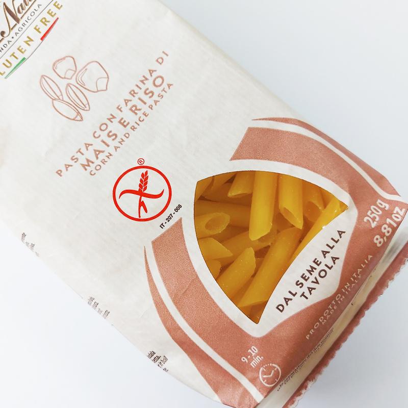 意大利Pasta Natura 無糖無鹽 玉米稻米長通粉 250g【市集世界 - 意大利市集】