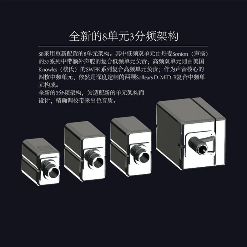 MOONDROP S8 水月雨 3分頻 旗艦 #8單元 動鐵 舞台 入耳式耳機 水氏調音A8升級版【透明公模版】🎶🎶