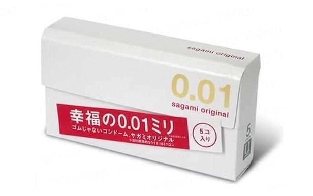 日本Sagami Original相模原創0.01安全套(5片裝) 2盒
