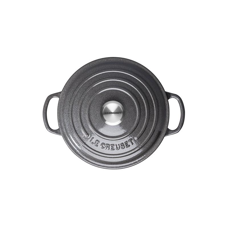 Le Creuset 圓形鑄鐵鍋 20cm 灰色