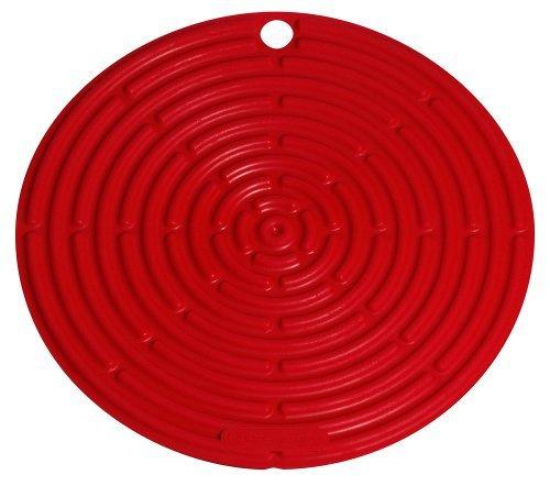 Le Creuset 鑄鐵四方平底鍋 26cm 紅色 + 矽膠冷卻隔熱墊 20.5cm 紅色