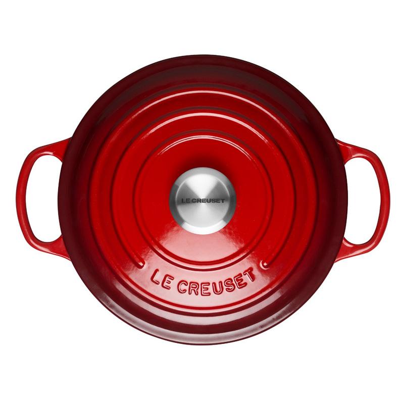 Le Creuset 圓形鑄鐵鍋 紅色 2個尺寸