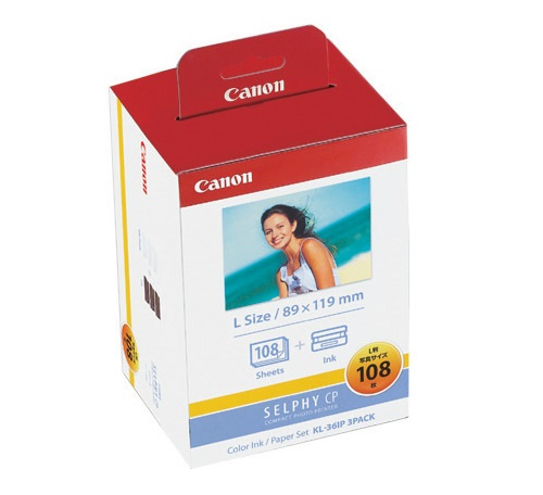 Canon KL-36IP (L尺寸)相紙連色帶套裝 [108張]