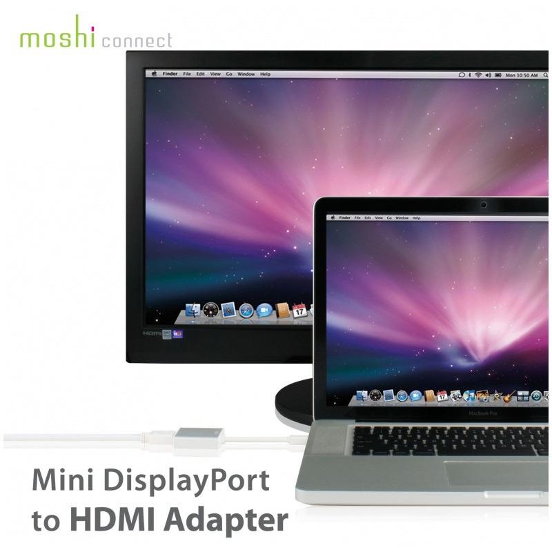 Moshi Mini DisplayPort to HDMI Adapter (with audio) for Macbook 【行貨保養】