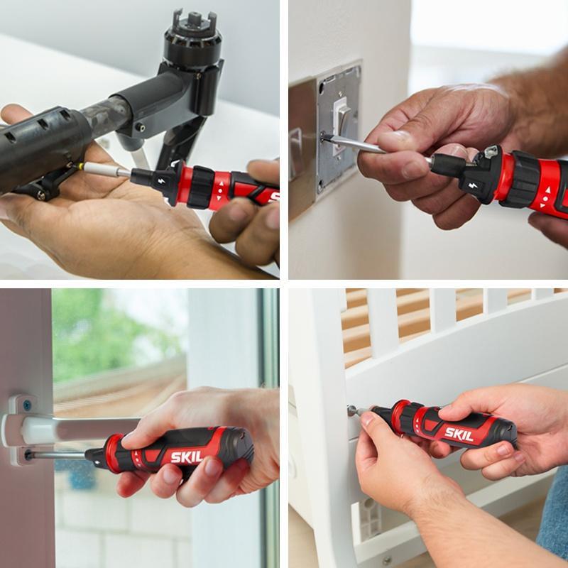 Skil電動螺絲刀充電式家用小型電批起子螺絲擰緊機迷你螺絲批工具現貨