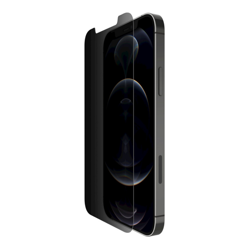 Belkin SCREENFORCE™ 鋼化玻璃防偷窺抗菌螢幕保護貼[iPhone 12系列]