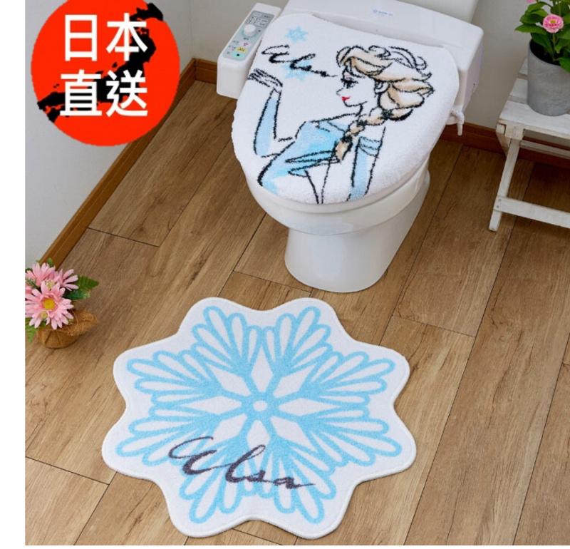 魔雪奇緣廁所蓋地毯套裝(Elsa)(日本直送)