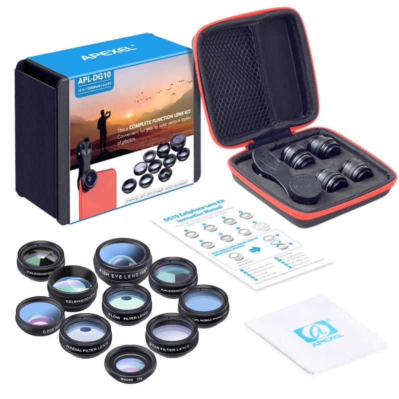 APEXEL APL-DG10 10合1手機鏡頭套裝