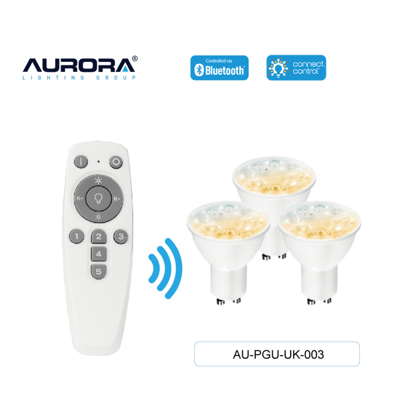 Aurora 5W GU10 智能黃白光燈膽套裝[AU-PGU-UK-003]