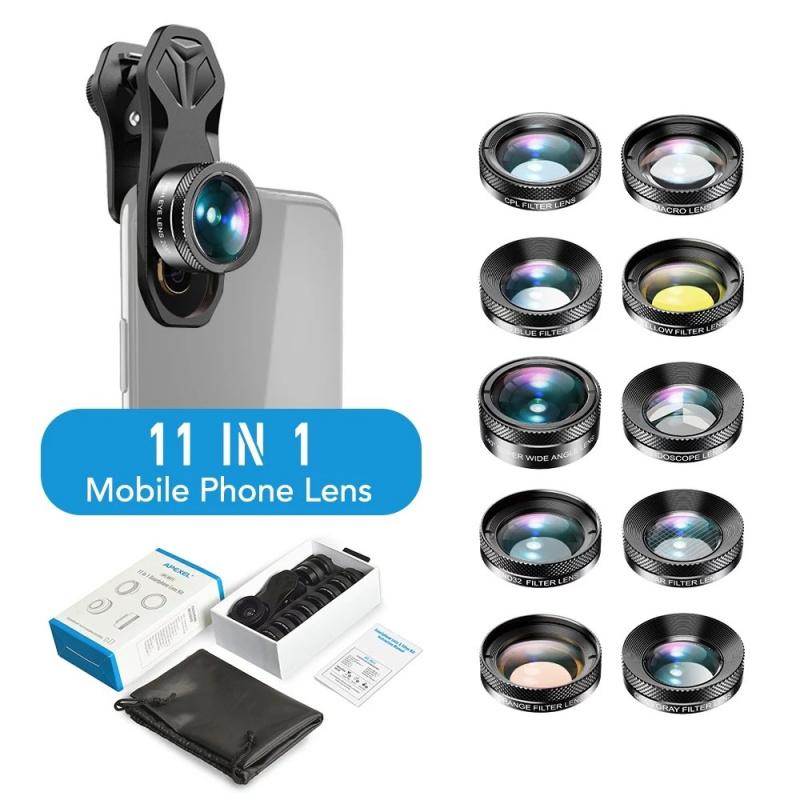 APEXEL APL-DG11 11合1 通用專業高清手機鏡頭套裝