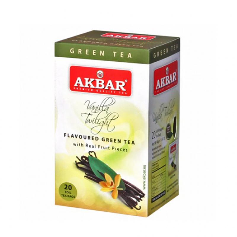 AKBAR 雲呢拿綠茶20小包(鋁箔袋) 20 X 1.5g