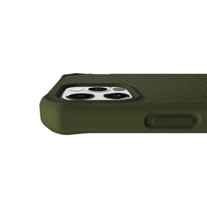 法國 ITSKINS HYBRID BALLISTIC iPhone 12系列防摔保護殼 軍綠色KAKI