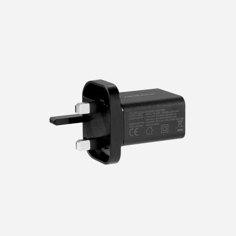 MOMAX ONEPlug 雙USB Type C + QCD3.0 USB 快速充電器 UM13