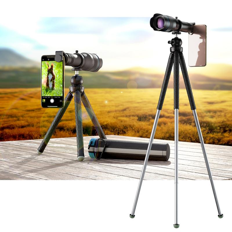 APEXEL APL - 高清60倍金屬手機遠攝變焦單筒望遠鏡 (連可申縮3腳架) [JS60XJJ09B]