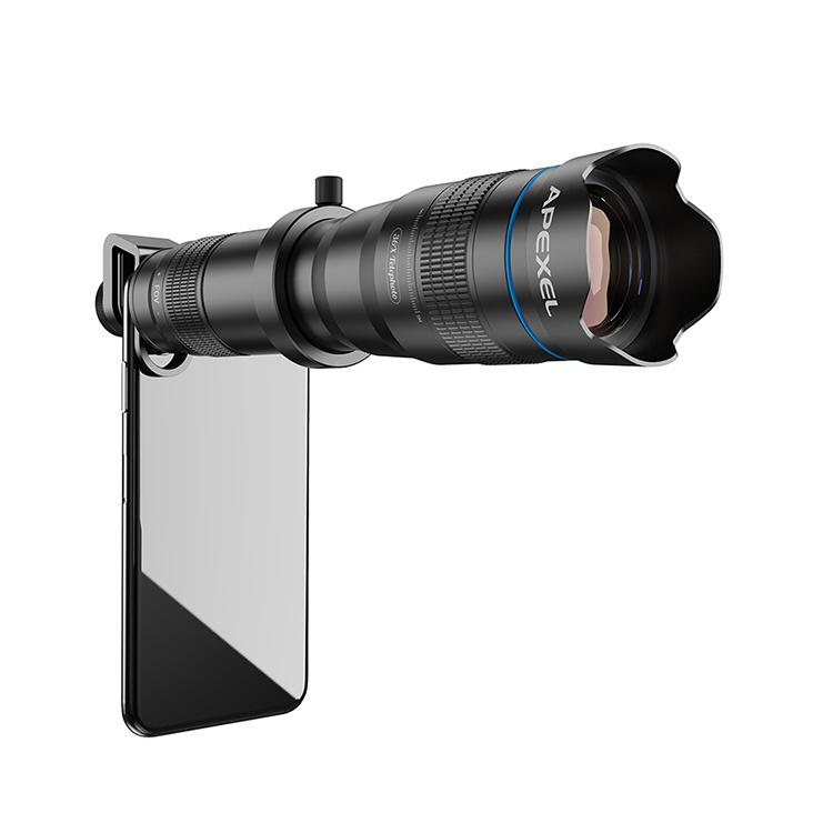 APEXEL APL-JS36XJJ04B 高清 36倍 全金屬單筒望遠鏡長焦鏡頭光學手機相機鏡頭單筒 連3腳架