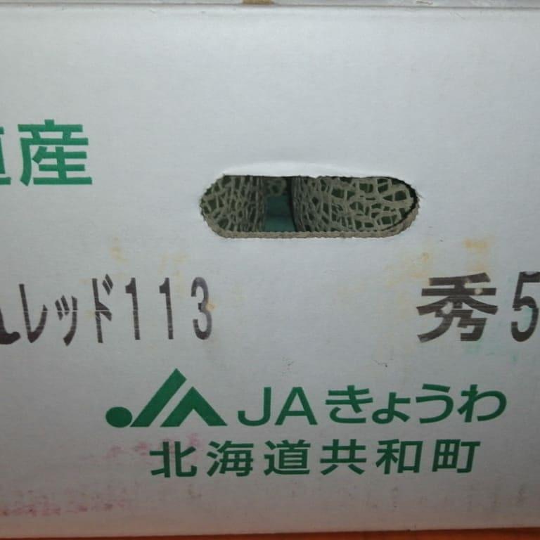 日本直送~北海道雷電密瓜 一箱5個 $550