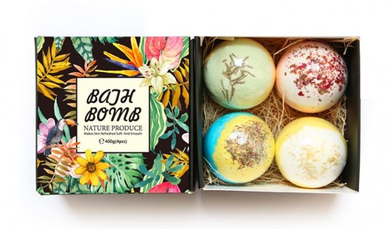 【Staycation 必備】Bath Bomb 純手工乾花精油浴鹽球禮盒套裝 (4個裝)