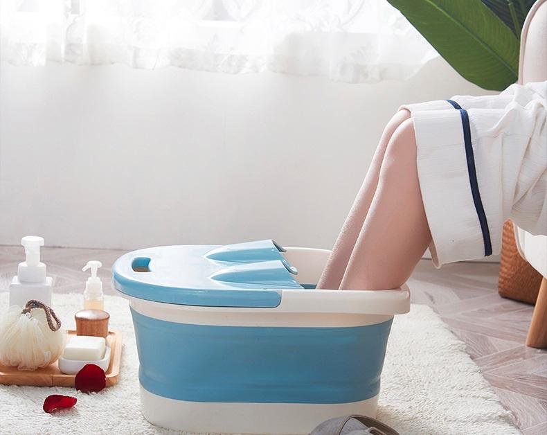 【暖腳寶物】家用折疊式按摩足浴桶