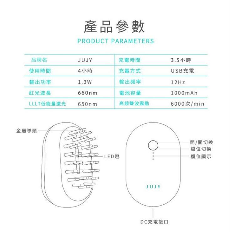 日本JUJY LLLT光電增髮梳✨.