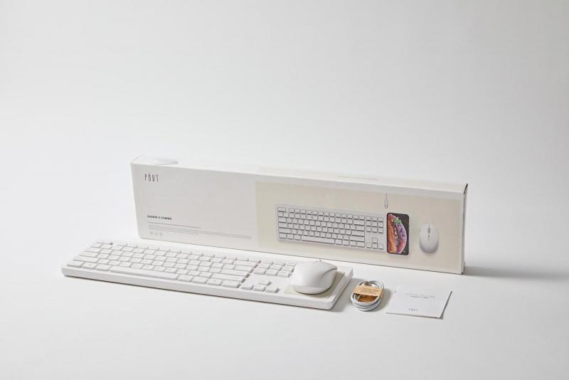 Pout Hands 5 Combo 3合1 快充無線充電鍵盤 + 無線充電滑鼠