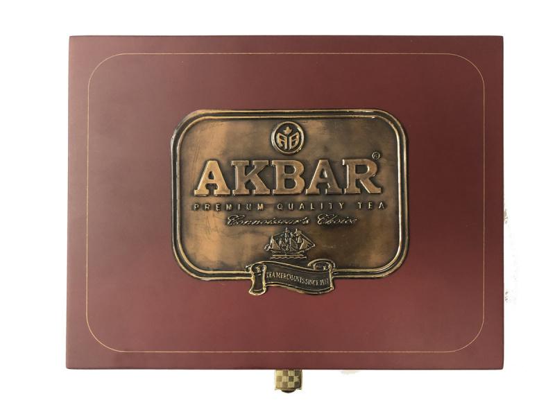 AKBAR 六格木製禮品盒 (60包)