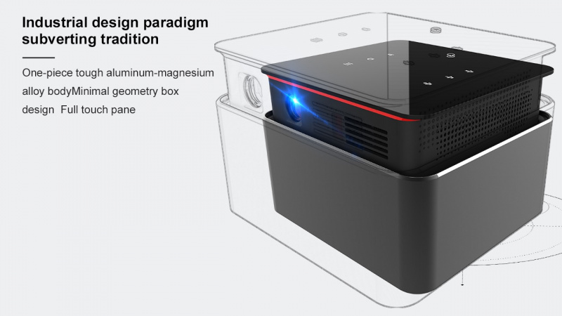 便攜式微型投影儀K6 PROJECTOR 首款自動伸縮投影盒150ANSI 立體聲揚聲器(全港免運費)