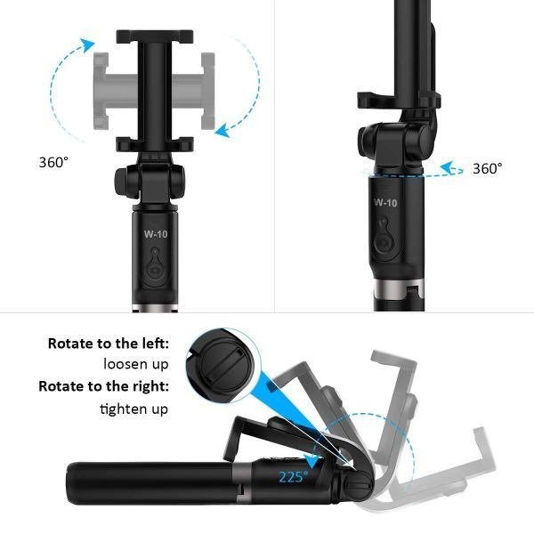 All in one bluetooth selfie stick + tripod/stylish/smaller size/light-weight/for selfie/live streaming/as a stand/remote control/一體式藍牙自拍杆+支架/小巧/輕便/便𢹂/20cm-67.5cm