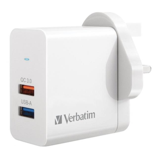 威寶 - 25W 雙插頭 QC 3.0 USB充電器 雙端口 66569