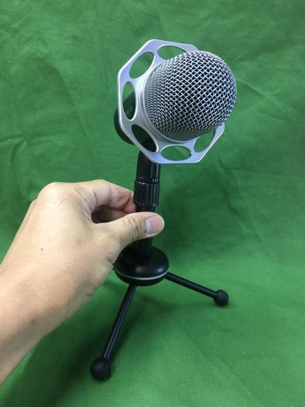Yanmai Y20 /desktop condenser microphone set/for recording/chatting/K-song/Video conference/work with PC & MAC/座台電容收音咪套裝/可升降/摺疊/360度拾音/高靈敏/降噪/帶音量調節/即插即用