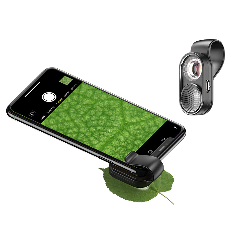 APEXEL APL-MS01 100倍智能手機微距數碼顯微鏡鏡頭, 帶LED燈