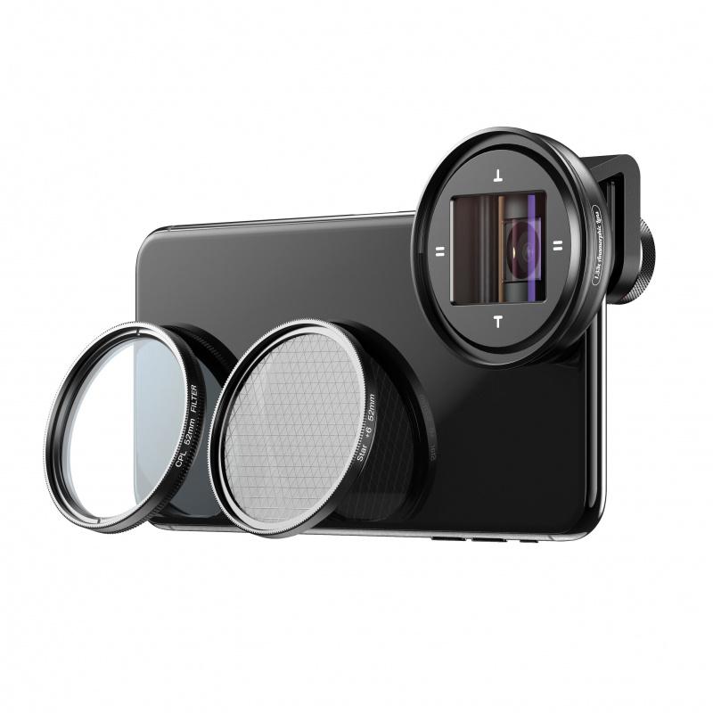 APEXEL APL- PRAN-V2 1.33倍 寬屏視頻電影鏡頭高清52mm變形鏡頭套件 連 CPL星光濾鏡
