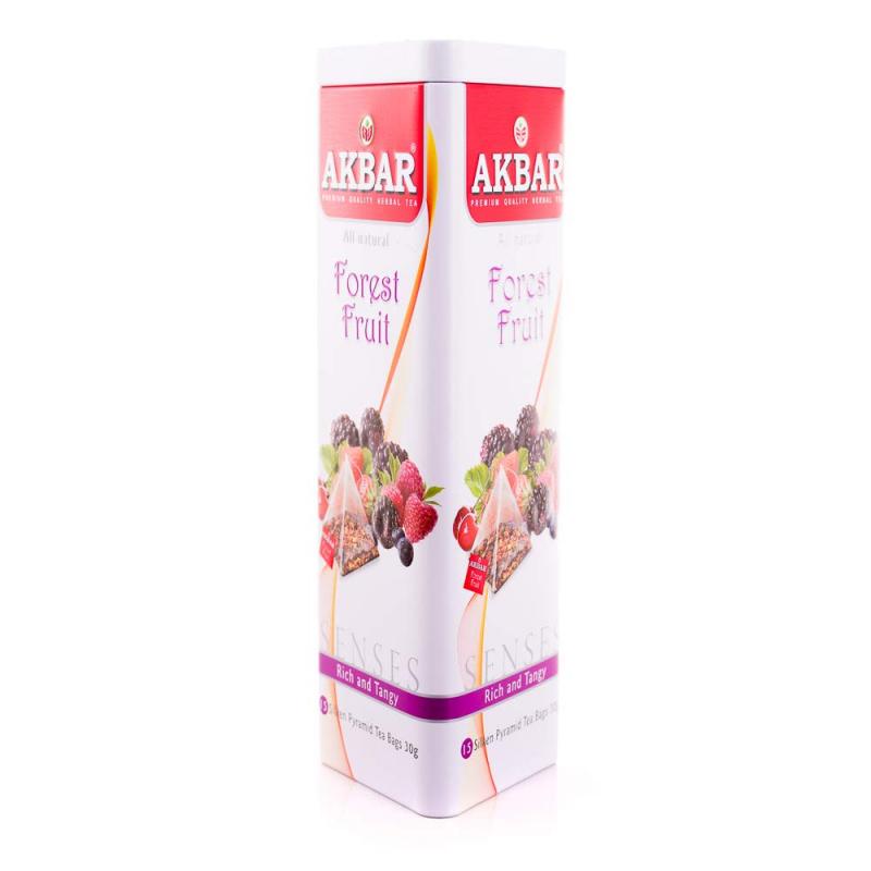 AKBAR 森林水果茶金字塔型茶包鐵罐裝 15 X 2g