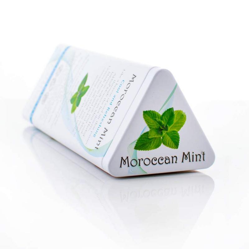 AKBAR 摩洛哥薄荷茶金字塔型茶包鐵罐裝 15 x 1.5g