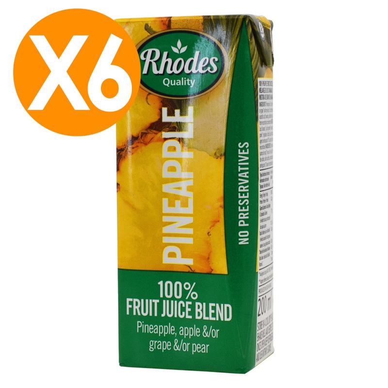 RHODES全天然100%菠蘿混合果汁 200毫升 X6(平行進口)
