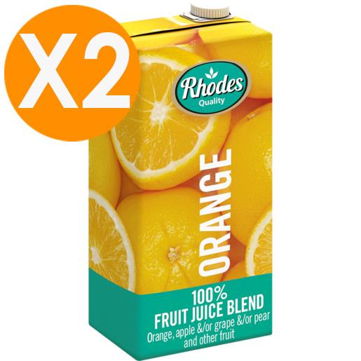 RHODES全天然100%鮮橙味混合果汁 1升裝 X2(平行進口)