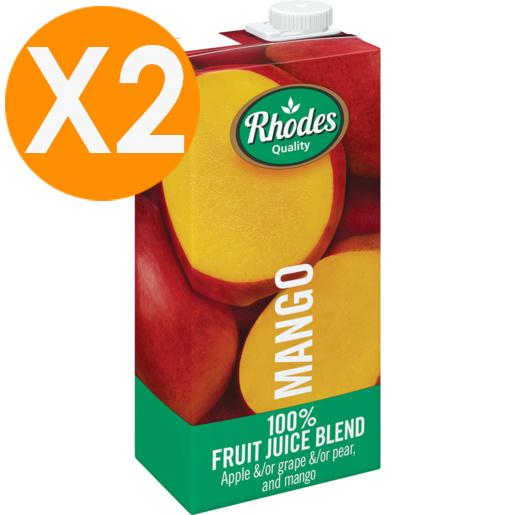 RHODES全天然100%芒果味混合果汁 1升裝 X2(平行進口)