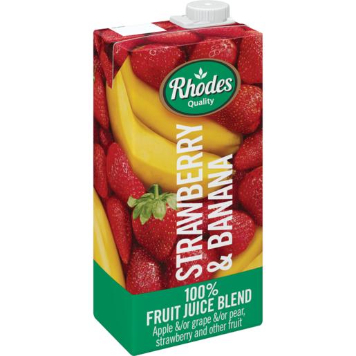 RHODES全天然100%士多啤梨香蕉混合果汁 1升裝 (平行進口)(最佳食用期至22/12/2020)