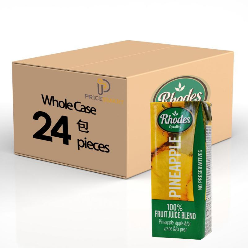 RHODES全天然100%菠蘿混合果汁 200毫升 X24(平行進口)