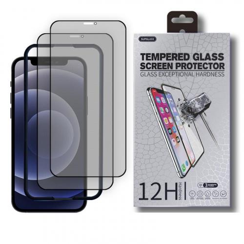 ALOK Apple iPhone 12 / iPhone 12 Pro / iPhone 12 PRO MAX 28度全屏黑邊12H防偷窺光學塗層保護貼 [2片裝]
