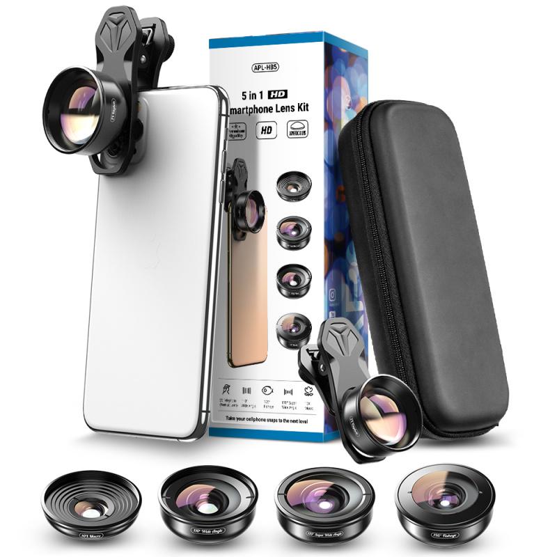 APEXEL APL-HB5 高清5合1相機鏡頭套件(套裝)