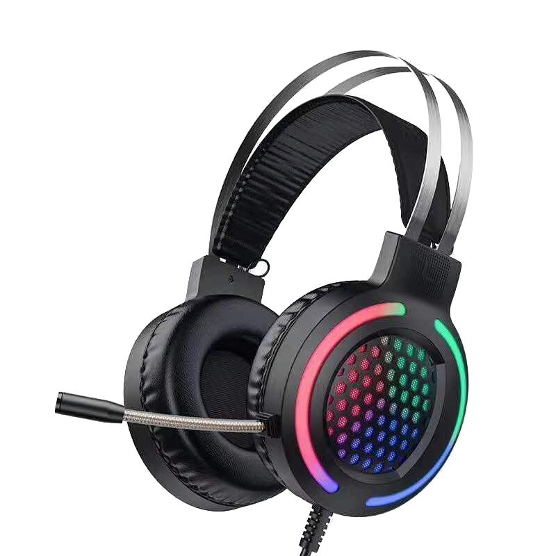 Borofone 電競彩光電腦用全覆蓋頭戴耳機[ESD03]