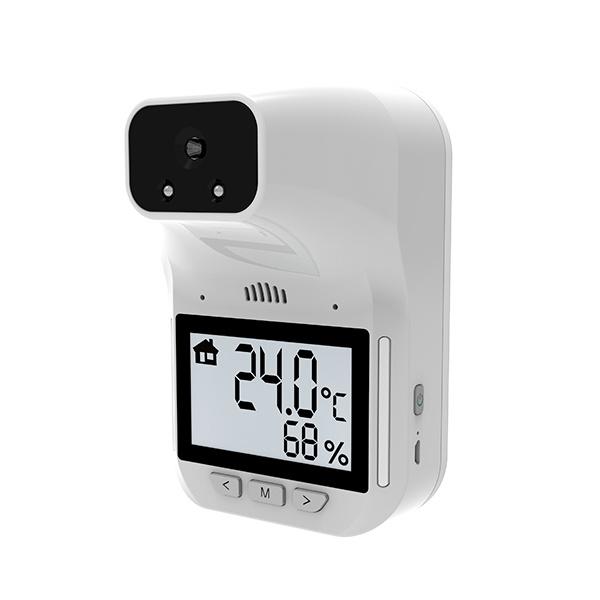 HK3 升級版 紅外線自動快速測溫機 - 新增語音提示,3.2 寸LCD液晶顯示屏,環境溫度及濕度顯示,商用型,非接觸,充電式,可懸掛 / 座地三腳架 (需另配)