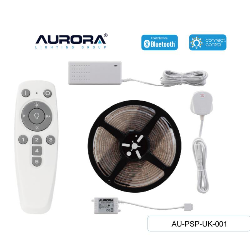 AURORA AU-PSP-UK-001 30W 彩色5米燈帶套裝連遙控連13A英式插頭