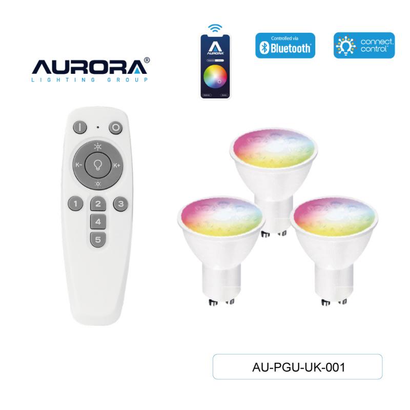 AURORA AU-PGU-UK-001 5W GU10 智能彩色燈膽套裝