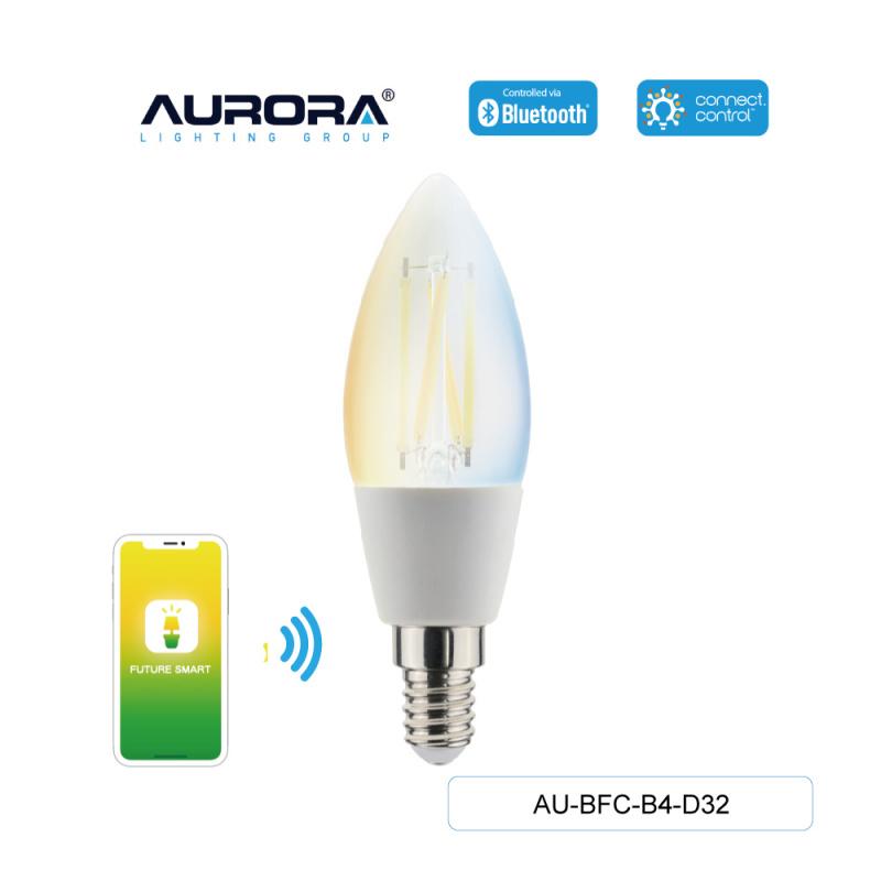 Aurora AU-BFC-B4-D32 4.5W A60 E14 智能黃白光造型燈膽