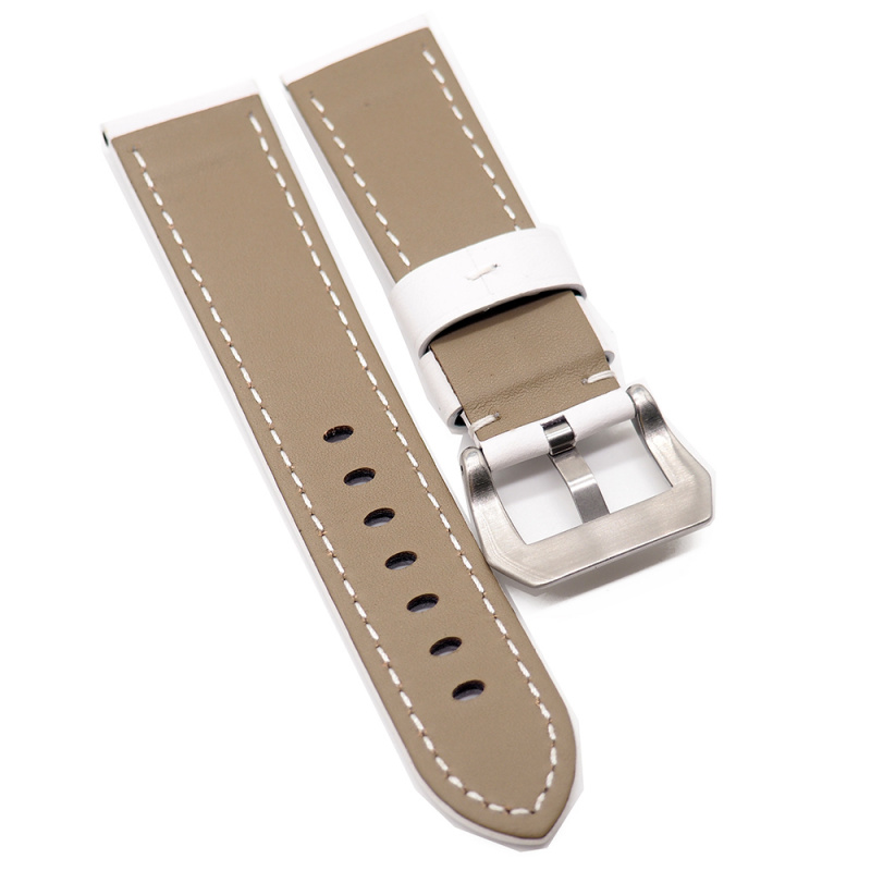 24mm Panerai 白色牛皮代用錶帶