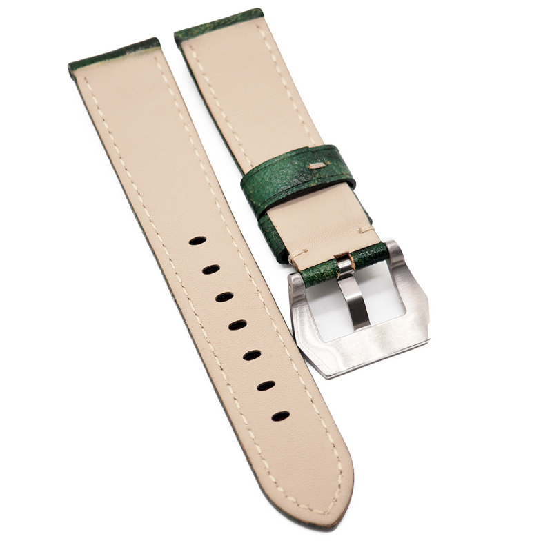 22mm Panerai 綠色花紋牛皮代用錶帶