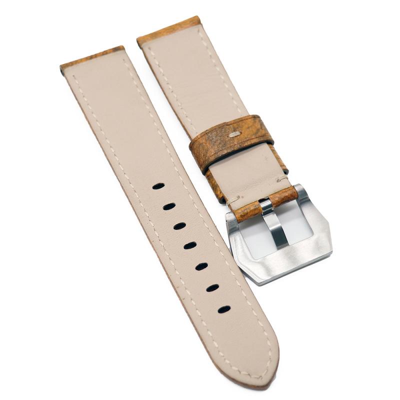 22mm Panerai 黃色花紋牛皮代用錶帶