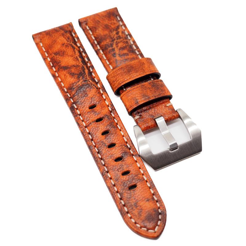 22mm Panerai 橙色花紋牛皮代用錶帶