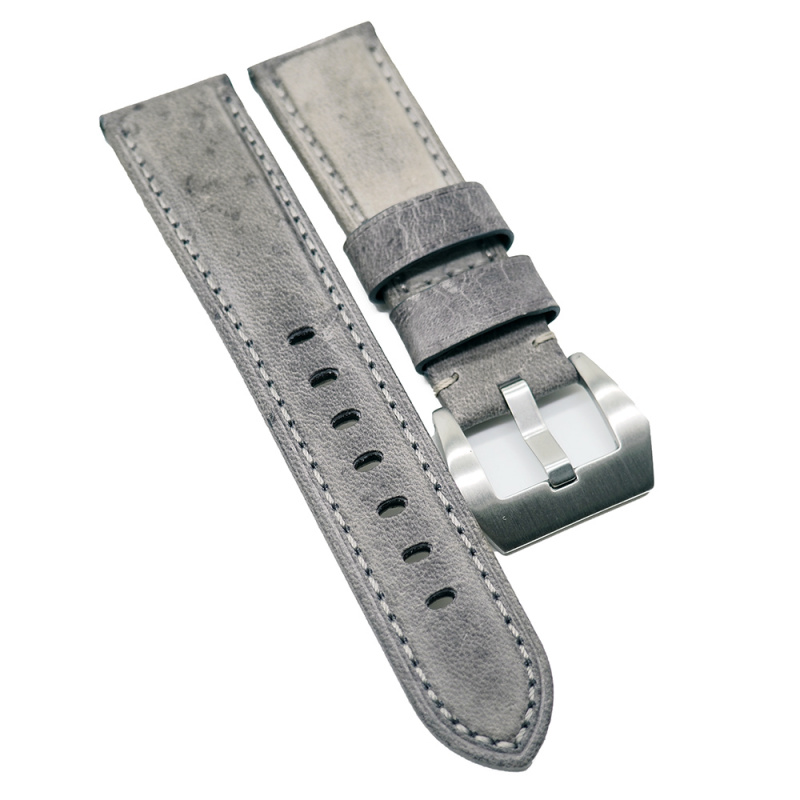 22mm Panerai 灰色牛皮代用錶帶